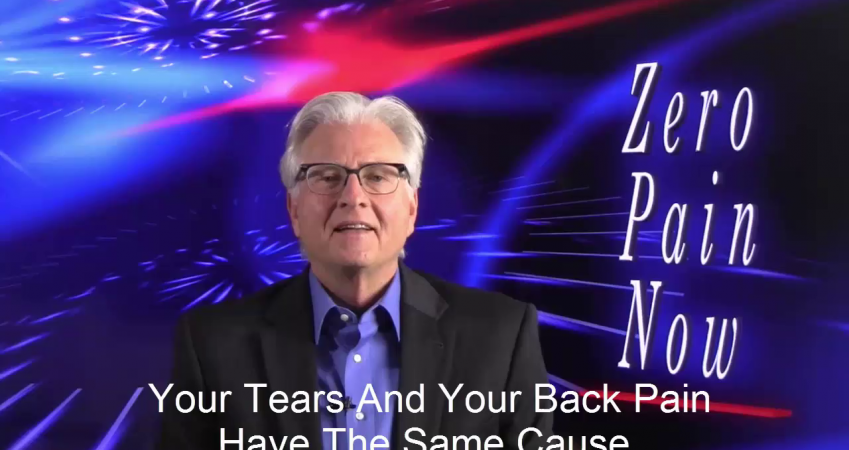 Your Tears And Your Back Pain Have The Same Cause